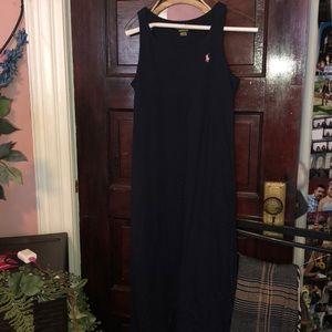 Navy Blue Polo Ralph Lauren Maxi Dress
